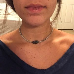 super cute leather snake skin necklace